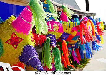 Mexican party pinatas tissue colorful paper - Mexican party...