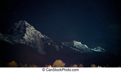 The mountains in Sochi - Mountain, Rosa Khutor night...