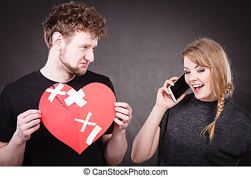 Young couple in separation because of betrayal - Betrayal...