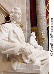 Statue of Alexander Stephens - Marble statue of Alexander...