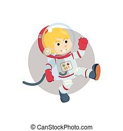 Astronaut girl illustration