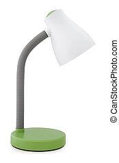 Desk lamp - Green desk lamp on white background.