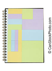 notebook color full - An open spiral bound notebook color...