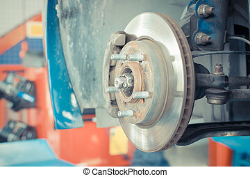 Wheel hub and brake - Wheel hub and car disk brake for...