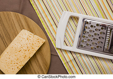 Metal grater and cheese