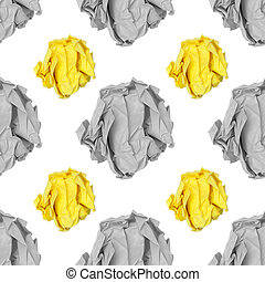 paper ball on white background pattern background seamless...