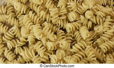 Prepared spiral pasta blurred closeup - Prepared spiral...