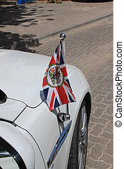 British Embassy flag car - British Ambassador's car with the...