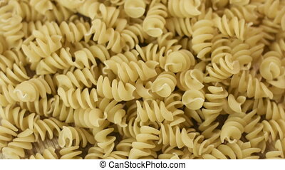 Prepared spiral pasta blurred closeup - Prepared spiral...