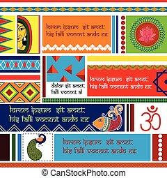 Indian Art background - easy to edit vector illustration of...