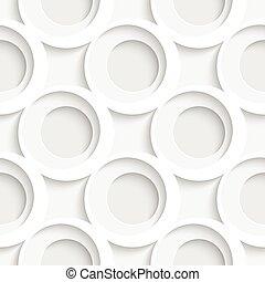Seamless Ring Pattern. Oriental Background. Regular White...