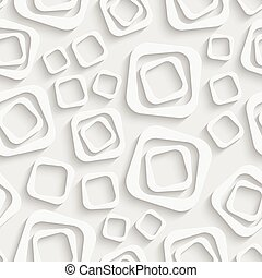 Seamless Square Pattern. Soft Background. Regular White...
