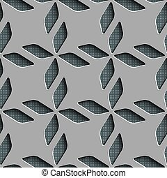 Seamless Rhombus Pattern Vector Background Gray Regular...