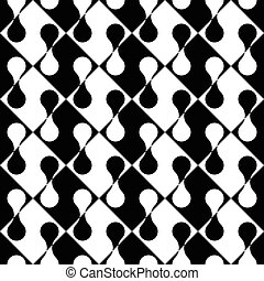 Seamless Rhombus Pattern Vector Monochrome Background
