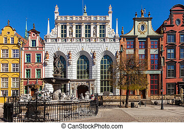 The Artus Court in Gdansk - Artus Court with Neptune...