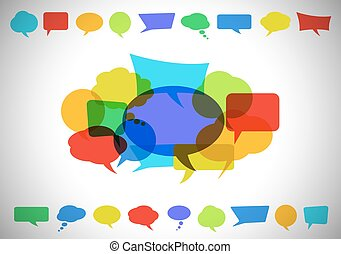 Colorful speech bubble background