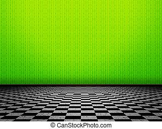 Green Wall Interior