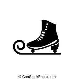 Ice skate icon - Ice skate in simple style isolated on white