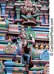 Tempel Sri Mariamman in Bangkok - Detail of Hindu Temple Sri...
