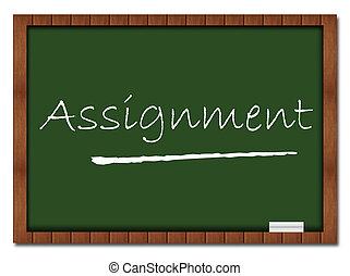 Assignment Classroom Board - Assignment text written over...