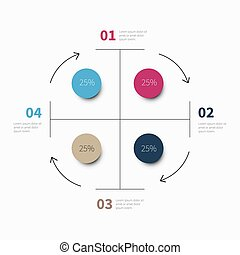 infographic circle chart