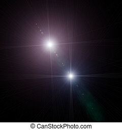 starlight - An illustration of a bright star in the sky