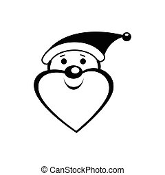 Santa Clause icon in simple style isolated on white