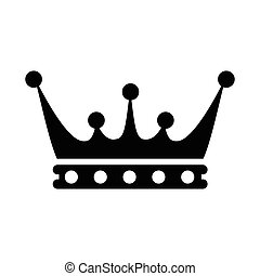 Crown icon simple - Crown icon in simple style isolated on...