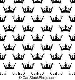 Crown pattern seamless black for any design