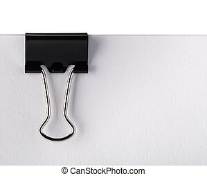 Paper clip - Black Paper clip isolated on white background.