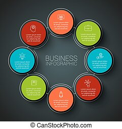 Vector infographic design template. Business concept with 8...
