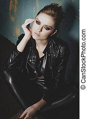 Beautiful sexy fashion model
