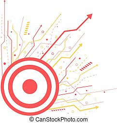 Target board and arrows background