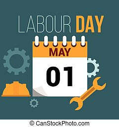 May 1 labour day illustratiion - May 1 labour day flat style...
