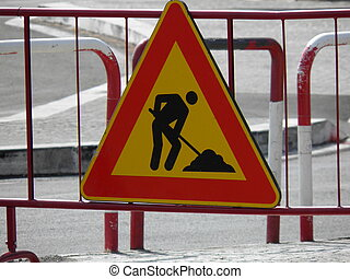 Road works sign - Warning signs, Road works traffic sign