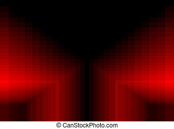 red quadratic pattern in color geometric