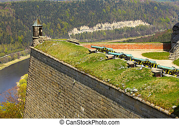 The fortress of Koenigstein and its environment near...