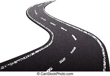 Asphalt road texture isolated