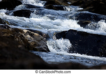 Natural view of running water