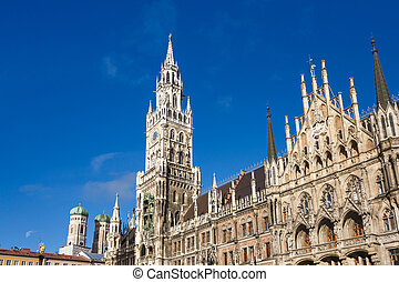 Cityhall of Munich - Facade of the Cityhall, located in...
