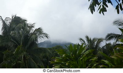 Landscape of mountains and sky.Camiguin island.