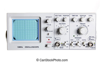 Oscilloscope on White Background