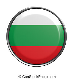 Button with Bulgaria flag - 3d rendering of Bulgaria button...