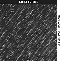 Rain realistic effect. Rains and snow isolated realistic. -...