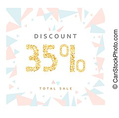 Discount 35 Discounts price tag Black Friday - Discount 35...