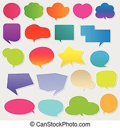 Colorful communication bubbles vect