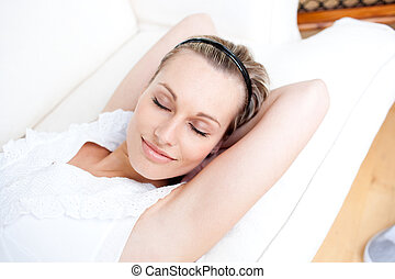 Portrait of an attractive woman relaxing