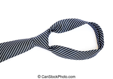 Blue tie knot on white background - Blue tie knot isolated...