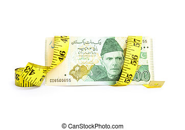 Closeup of five hundred rupee note - Closeup of five hundred...
