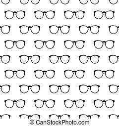 Eyeglasses pattern seamless black for any design